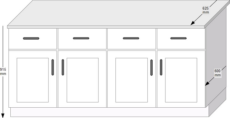 UK Standard Sizes for Kitchen Cabinets